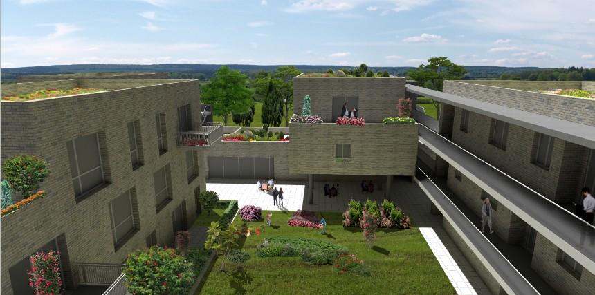 Ansicht-Mehrgenerationenhaus