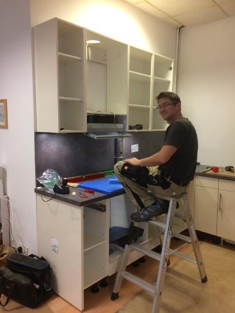 Neue Küche im Büro
