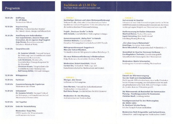 Wohnungspolitischer Kongress Hannover