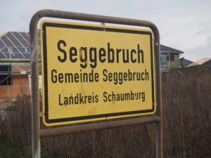 Bild vom Ortseingangsschild in Seggebruch
